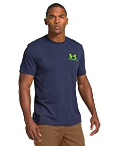 Under Armour Mens Charged Cotton® Tri-Blend Logo T-Shirt by Under Armour