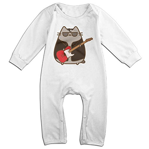 Pusheen Playing Guitar Baby Onesie