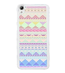 ifasho multi color Triangular Pattern Back Case Cover for HTC Desire 826