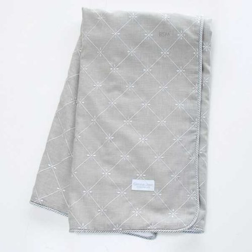 Glenna Jean Starlight Throw, Grey Embroidery