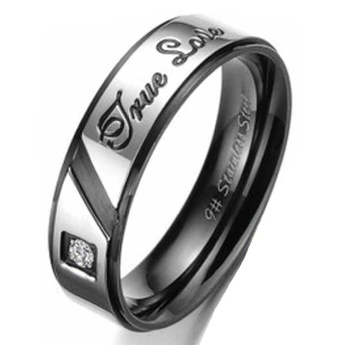 Moandy Jewelry Titanium Stainless Steel Men'S Fashion Ring Shinning Cubic Zirconia Smooth Us Size 11