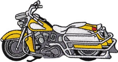 Application Classic Yellow Bike Patch