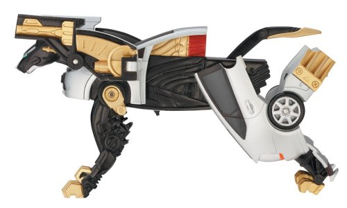 Power Ranger RPM Transforming Beast Zords Chrome Prowler Tiger Zord (Prius- Silver Fire Tiger)