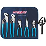 Channellock TOOLROLL-3  5-Piece Plier Set in Handy Tool Roll