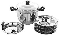Embassy Stainless Steel Idli Maker / Pot With Steamer, 16 Idlis