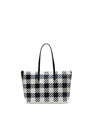 lacoste-womens-concept-fantaisie-gingham-zippered-tote-bag-in-size-one-size-blue