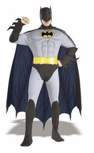 Batman Muscle Chest Deluxe Fancy Dress Costume - Adult