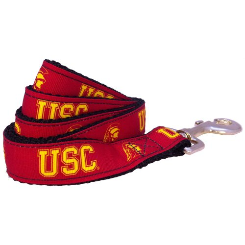 "NCAA USC Trojans Dog Leash (Team Color, Small) - (Leash Width is 5/8"")"