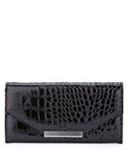 M&S Collection Mock Crocodile Skin Envelope Purse