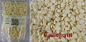 Callebaut Chocolate Callets (small disc) White 28.1% cacao 2 lbs
