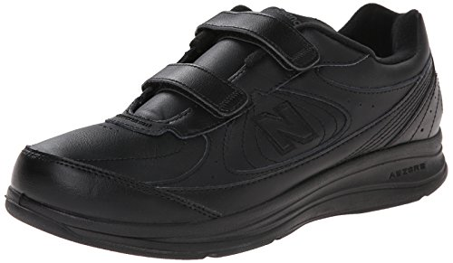 New Balance Men's MW577 Leather Hook/Loop Walking Shoe,Black,10.5 2E US (New Balance Walking Shoes Velcro compare prices)