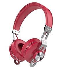 ZEALOT® B18 Fashion Wireless On Ear Bluetooth Headset-Hi-Fi Music,Line in Audio Input,Hand-free Call,Retractable Design-Red