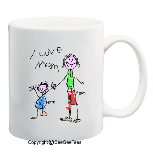 Happy Mothers Day Medley - 11 Oz Coffee Mug Or Tea Cup Gift By Beegeetees 05174 (I Luve Mom)