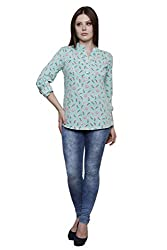 Vastrasutra Casual, Formal, Festive 3/4 Sleeve Floral Print Women's Top