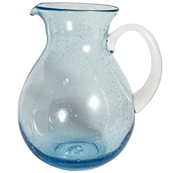Aqua Bubble Glass Pitcher