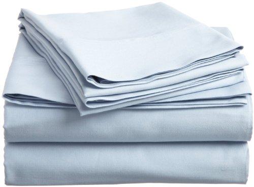 Solid Blue 500 Thread Count Button Closure 3-Piece Duvet Cover Set(Duvet Cover + Pillow Case Pair) Twin Xl Size, Egyptian Cotton Quilt Cover Set(Duvet Cover + Pillow Case Pair) front-86937