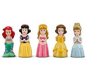 Disney Parks Princess Bath Pool Squeak Toys Set Including Ariel, Belle, Aurora, Cinderella, and Snow White
