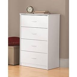 Mainstays 4-Drawer Dresser White Stipple