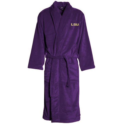 LSU Tigers Purple Team Plush Fleece Robe at Amazon.com