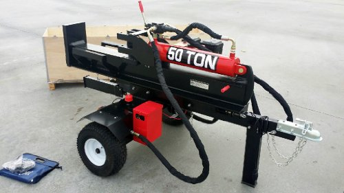 50 Ton, 15HP 420cc Hydraulic Gasoline Powered Log Wood Splitter Machine, with 22GPM 2 Stage Pump and 4 Way Splitting Wedge
