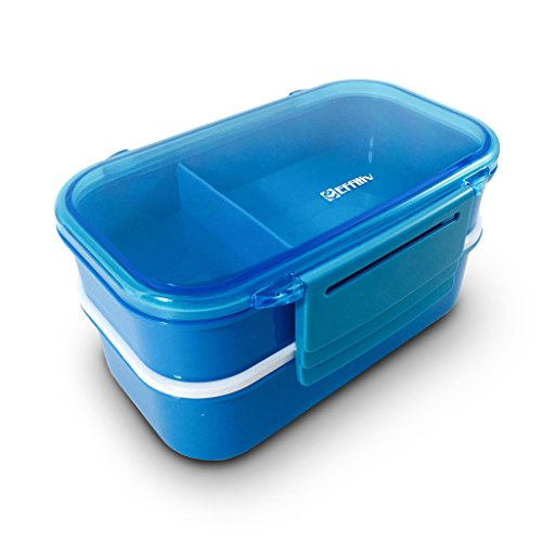 bento box lunch boxes food containers stackable blue home garden kitchen dining kitchen. Black Bedroom Furniture Sets. Home Design Ideas