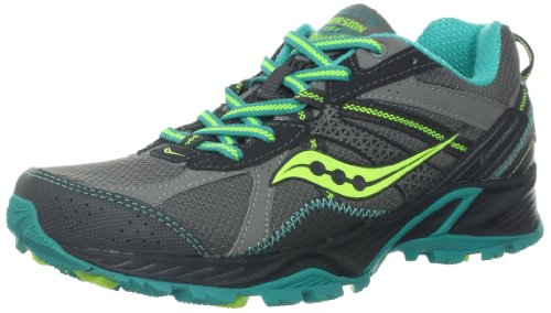 Saucony Women's Excursion TR7 TRail Running Shoe,Grey/Blue/CiTRon,8 M US