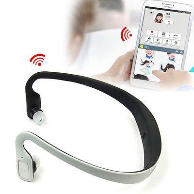 Wireless Bluetooth Sport Stereo Headphone For Samsung Galaxy Tab3 10.1 8.0 7.0 (White-Black)