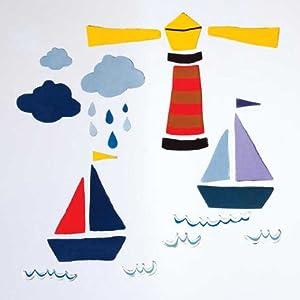 GelGems Lighthouse & Sailboat Large Bag Gel Clings from Design Ideas