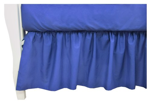 American Baby Company 100% Cotton Percale Dust Ruffle, Royal