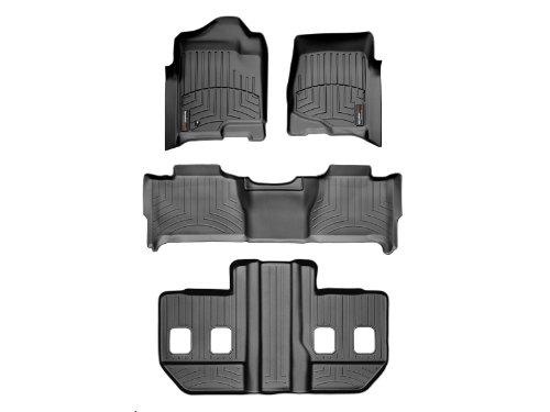 Black WeahterTech Custom FloorLiner for Ford SuperDuty SuperCrew 1st /& 2nd Row