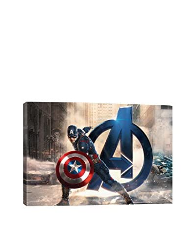 Captain America, The Avenger Movie Poster Gallery-Wrapped Canvas Print