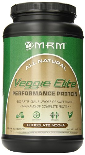 MRM Veggie Elite Dietary Supplement, Chocolate Mocha, 2.45 Pound