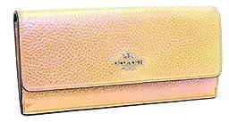 Coach Hologram Leather Soft Wallet (Gold)