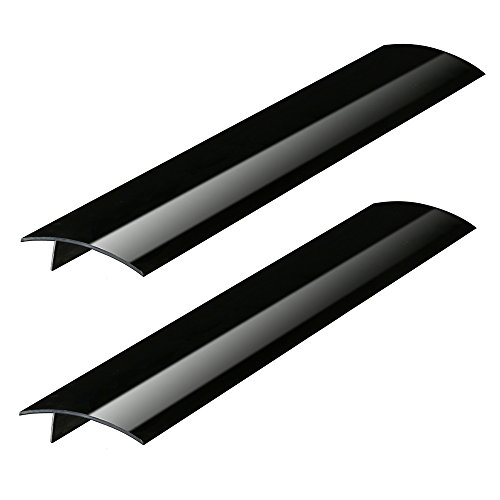Plum Hill Silicone Stove Counter Gap Covers - Black (2 Pack