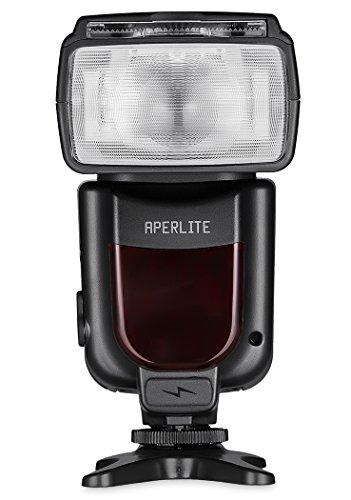 Aperlite Speedlite Flash Profesional para Nikon Digital Camara SLR Soporta a TTL, S1 & S2 Inalambricos Modelos, YH-500N