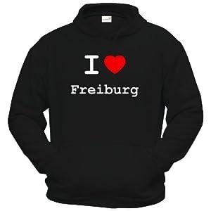 Hoodie - I love Freiburg - I love Shirt - in versch. Farben & Größen