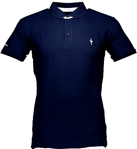 Polo T-shirt Maniche Corte Uomo Cesare Paciotti Men Short Sleeves CP11PS#1-Blu-XL
