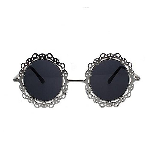 Mr Rabbit Hollow Lace Flower Metal Retro Round Sunglasses (Motorcycle Practice Cones compare prices)