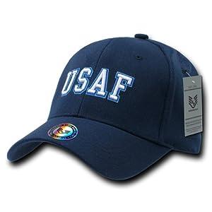 Rapiddominance Air Force FitAll Flex Cap, Navy, Small/Medium