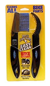 White Lightning Easy Clean Bicycle Chain and Parts Cleaning Brush Kit (2 Piece)