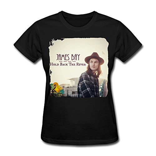 Destroy Moment Women's James Bay Hold Back The River T-Shirts Black