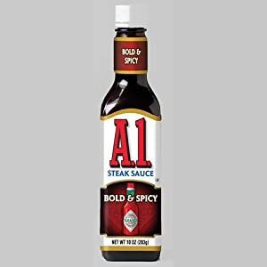 A1 Bold Spicy Steak Sauce Spiced With Tabasco Pepper Sauce - 10 Oz Bottle by A.1.