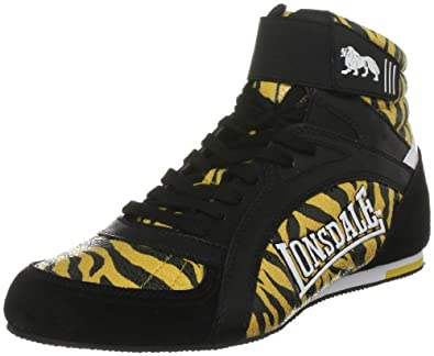 LONSDALE Tiger Adult Boxing Boots, Black/Orange, US10