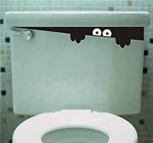 Toilet Monster Bathroom wall art decal sticker funny kids from Sticker Connection