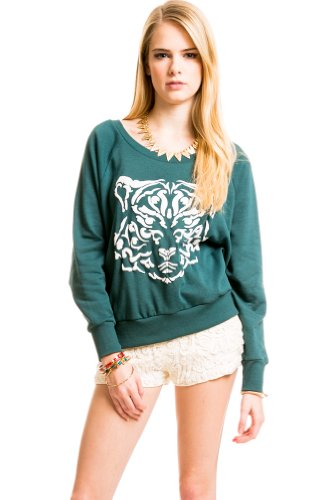 Rorschach Simple Sweater in Green