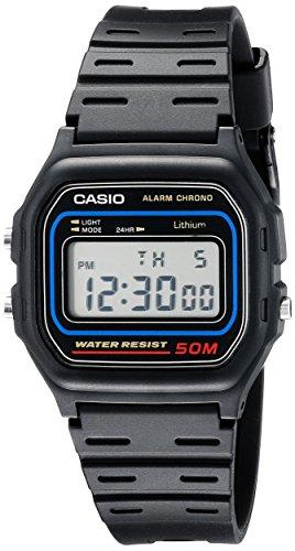 Casio Mens W59-1V Classic Black Digital Watch