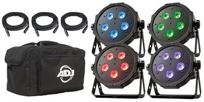 ADJ Products MEGA FLAT TRI PAK Bright Tri Colored LED Lighting System by ADJ Products