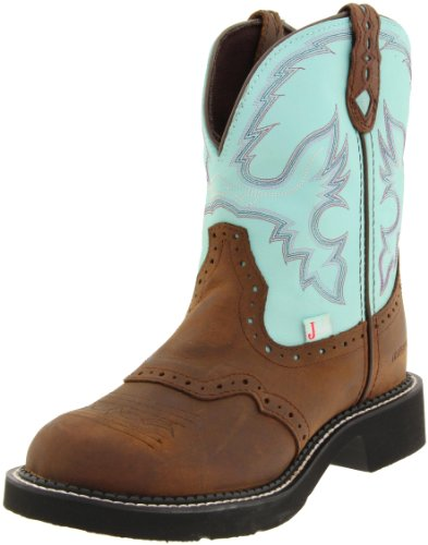 Justin Boots Women's Gypsy-L9915 Boot,Brown/Turquoise,8.5 B US