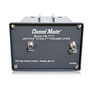 Channel Master CM 7777 TITAN2 UHF/VHF PREAMPLIFIER CM7777