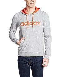 adidas Men's Hooded Cotton Sweatshirt (4056566615840_AY9621_XXL_Mgreyh/Solred)